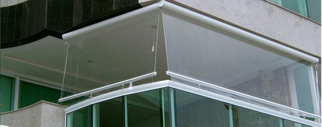 Toldo cortina para sacadas e varanda