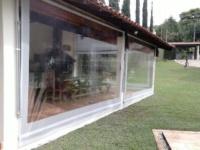 toldo cortina enrolável transparente
